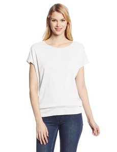 Calvin Klein Jeans Women's Short Sleeve Bottom Band Tee