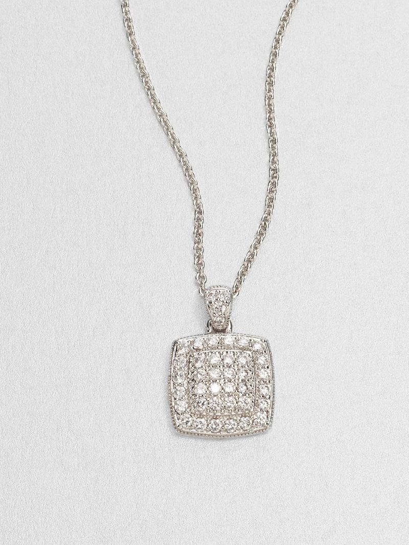 Adriana Orsini Squared Sterling Silver Necklace