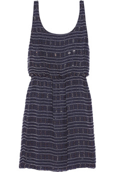 Alice + Olivia Gabby beaded silk mini dress