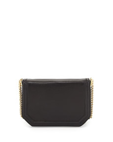Foley + Corinna Triple-Chain-Strap Flap-Top Shoulder Bag, Black