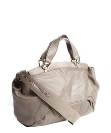 Kooba stone leather 'Leonard' foldover top handle bag