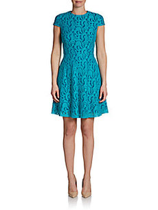 Cynthia Steffe Delphine Jacquard Lace Fit-And-Flare Dress