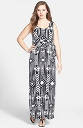 Calvin Klein Print Maxi Dress (Plus Size)