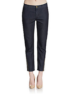 Lafayette 148 New York Slim Ankle-Zip Pants