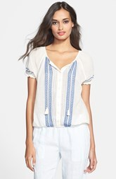 Joie 'Dolina C' Embroidered Cotton Blouse