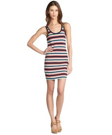 French Connection sky blue striped stretch cotton 'Space Hopper' tank dress
