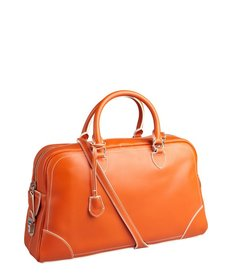Marc Jacobs orange leather 'Venetia' push lock satchel
