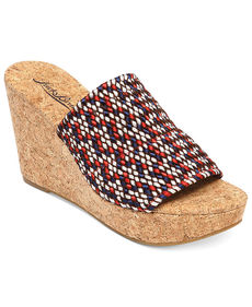 Lucky Brand Women's Marilynn Platform Wedge Slide Sandals