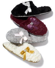 Charter Club Sculpted Pile Scuff Slippers