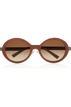 Marni Round-frame acetate and metal sunglasses