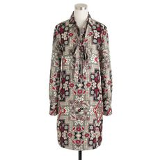 Collection Italian silk shirtdress in tapestry print