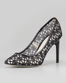 JASON WU Sigrid Crochet Lace Pump, Black
