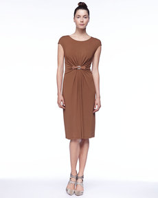 Michael Kors Cap-Sleeve Jersey Dress
