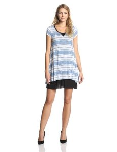 Kensie Women's Striped Viscose Dress