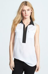 kensie Colorblock Soft Crepe Top