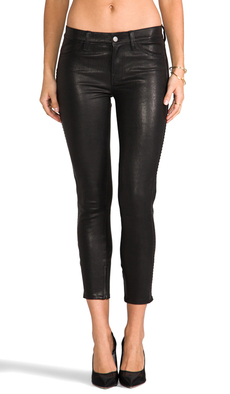 J Brand Bonded Studded Leather Pant in Black