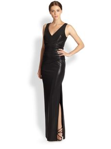 Laundry by Shelli Segal High Gloss Cutout Gown