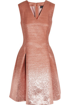 Fendi Ombré-effect metallic dress