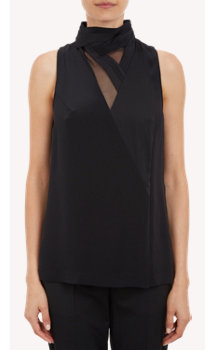 3.1 Phillip Lim Geometric-Inset Sleeveless Top