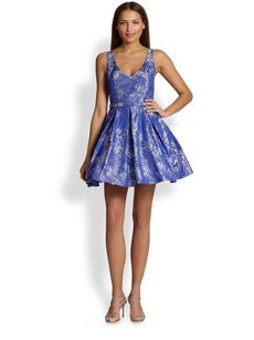 ABS Printed Fit-&-Flare Dress