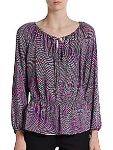 Ellen Tracy Printed Plesant Blouse
