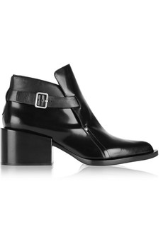 Jil Sander Polished-leather ankle boots