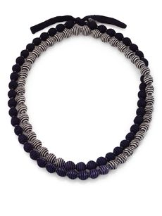 Eileen Fisher Double-Strand Beaded Necklace