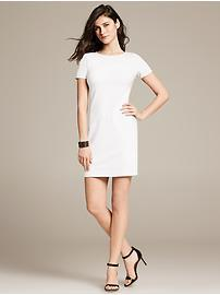 White Ponte Knit Dress