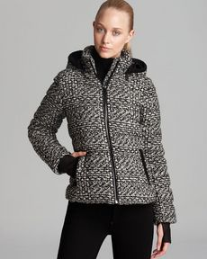 Andrew Marc Down Jacket - Printed Removable Hood