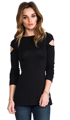 Rachel Pally Shoulder Cut-Out Sweater in Black
