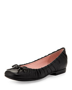 Taryn Rose Pintucked Ballet Flat, Black
