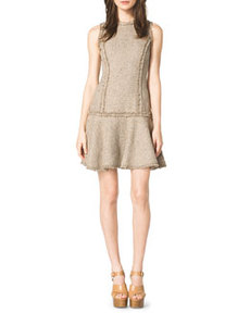 Drop-Skirt Tweed Dress   Drop-Skirt Tweed Dress