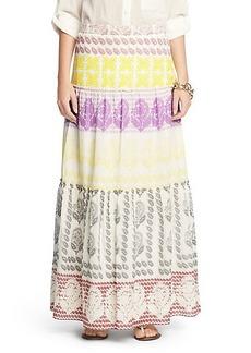 Marny Printed Cotton Maxi Skirt