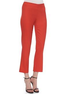 Derek Lam Side-Zip Ankle Pants, Red
