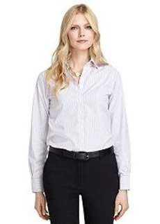Non-Iron Classic Fit Triple Dash Stripe Dress Shirt