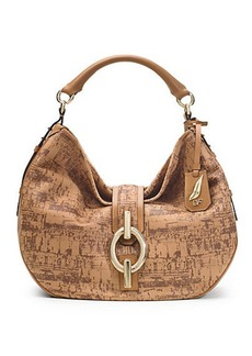 Sutra Cork Leather Hobo Bag
