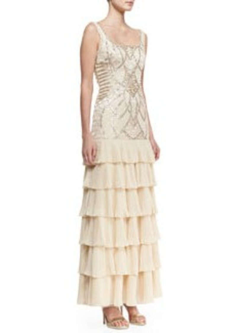 Sue wong sue wong sleeveless embroidered sequined bodice for Sue wong robes de mariage