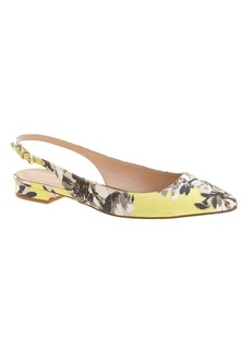 Lucie printed fabric slingback flats