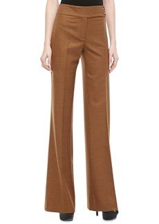 Michael Kors Jaryn Check Stretch-Wool Pants