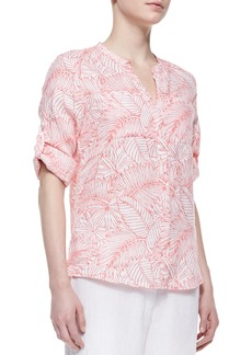 Tommy Bahama Penciled Palm Linen Shirt