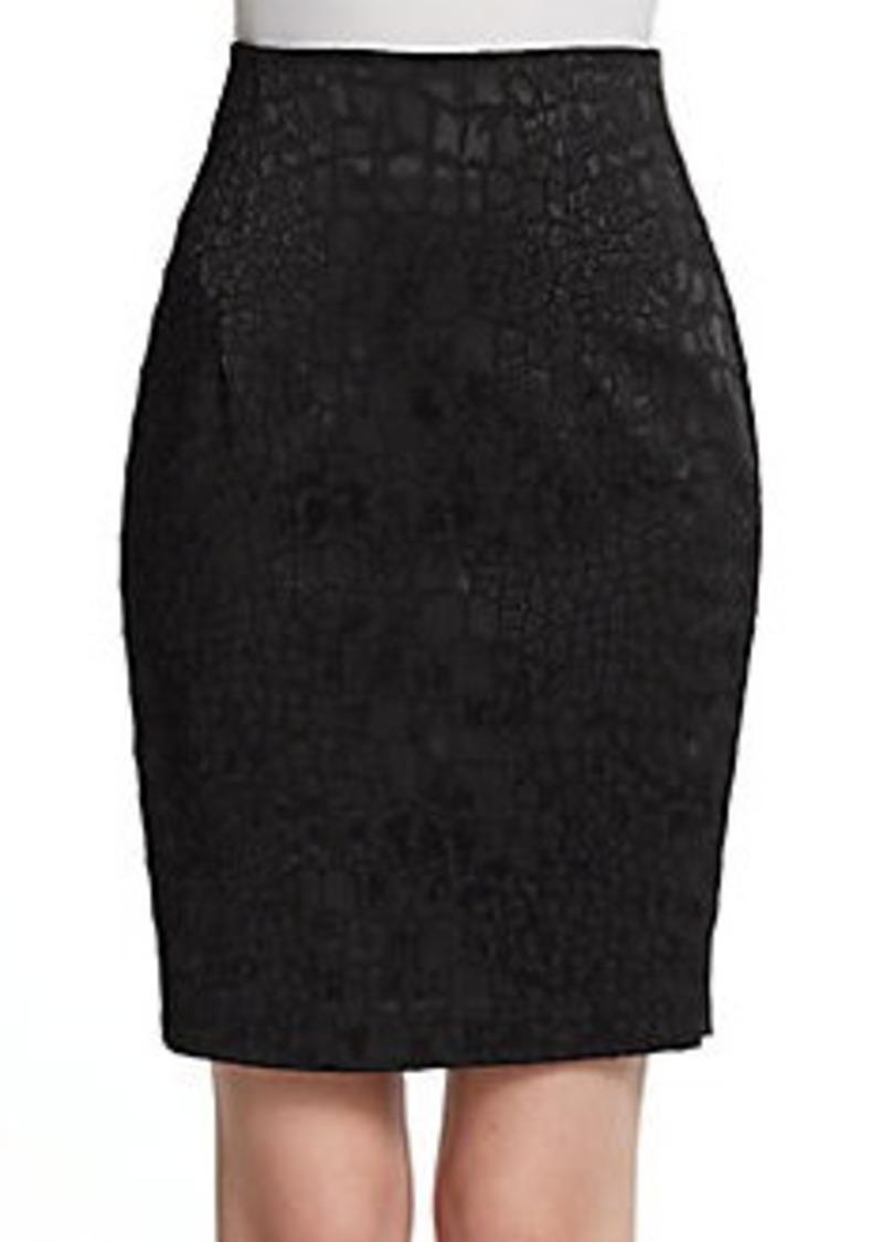 Catherine Malandrino Akela Jacquard Pencil Skirt
