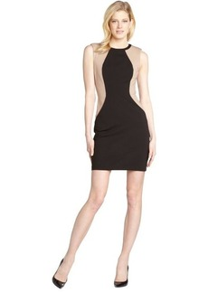 A.B.S. by Allen Schwartz black and nude sleeveless colorblock dress