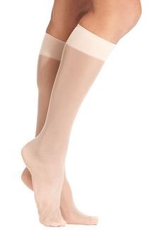 HUE Sheer Knee High Trouser 2 Pack Socks