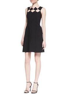 Catherine Malandrino Sleeveless Diamond Bodice Fit & Flare Dress, Noir
