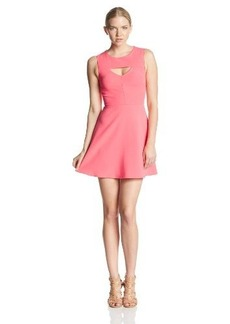 French Connection Women's Feather Ruth Classic Cut Out Fit and Flare Dress, Party Pink, 4