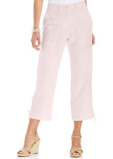 Charter Club Petite Cropped Linen Drawstring Pants