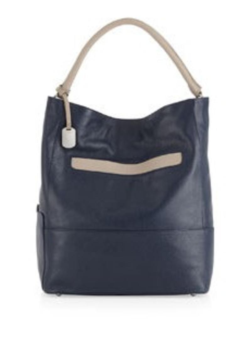furla furla laila medium colorblock hobo navy sand handbags shop it to me. Black Bedroom Furniture Sets. Home Design Ideas