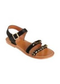 Marni Calf Hair Jeweled Double Band Sandal