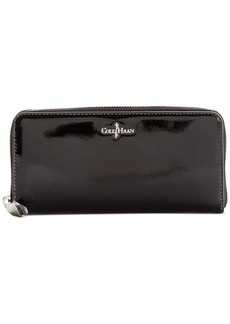 Cole Haan Berkeley Patent Travel Zip Wallet