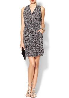 Rebecca Taylor Sleeveless Leopard Print Dress
